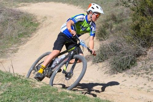 Caden's bike handling skills  helped propel him to a top 5 finish.