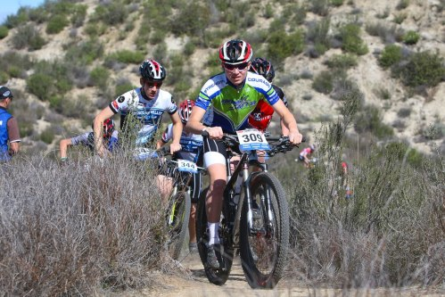 James leading a bullet train of very fast JV racers.