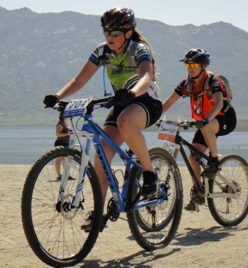 Bianca floats through the sand with her signature spin.  Sweeper Julie follows, ever vigilante.