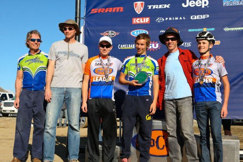 The CdM MTB team receiving our third place award. The little team that could!