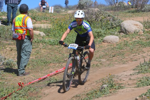 Caden rode alone for most of his race.  Seems no one could keep up!