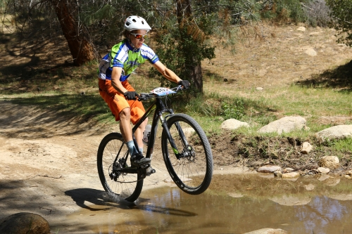 Caden's expert bike handling skills kept him dry and fast on the Keyesville course.