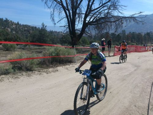Reilly finishes a lap on the very challenging Keyesville course.