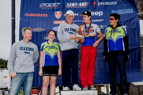 The usual serious tone of a CdM podium - Race #5. Photo courtesy Phil Beckman