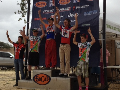 Jack on the top step of the podium 5 out of 5 races this season